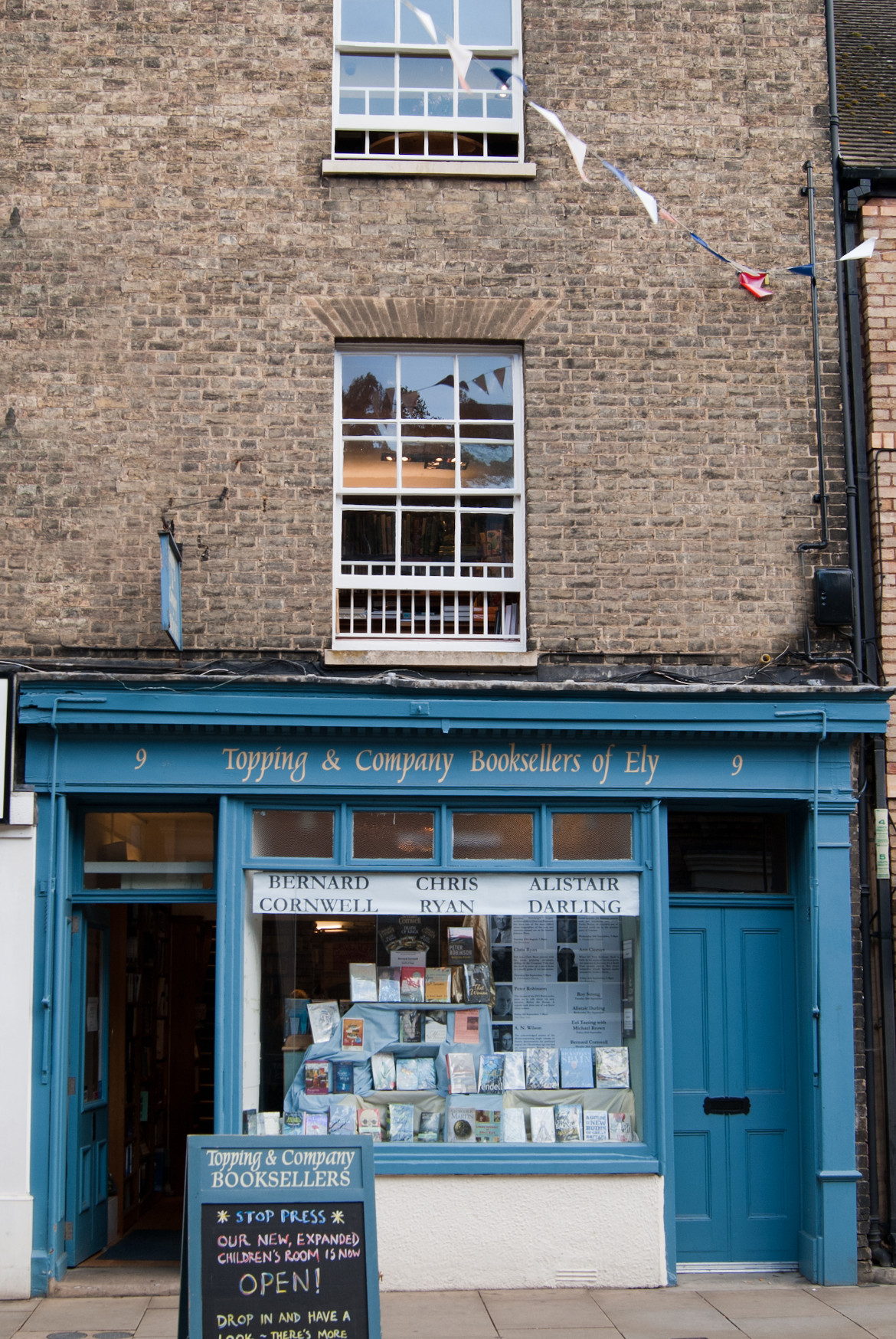 Outside the Ely Bookshop