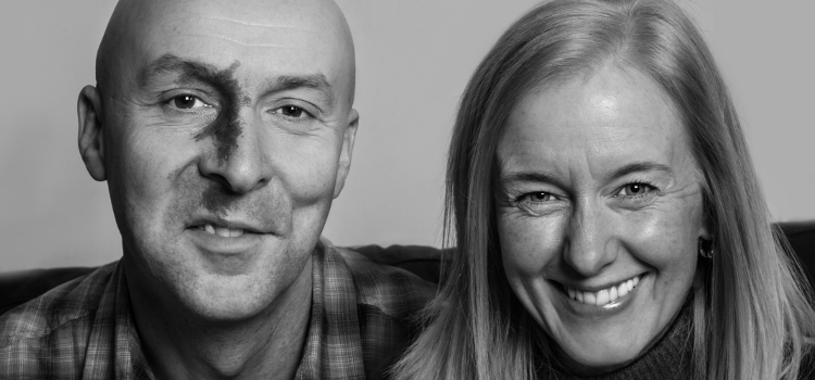 Image of Ambrose Parry: Christopher Brookmyre and Marisa Haetzman with The Way of All Flesh