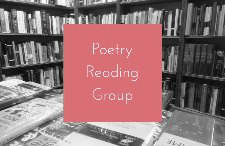 Image of July Poetry Reading Group: Forrest Gander's Be With