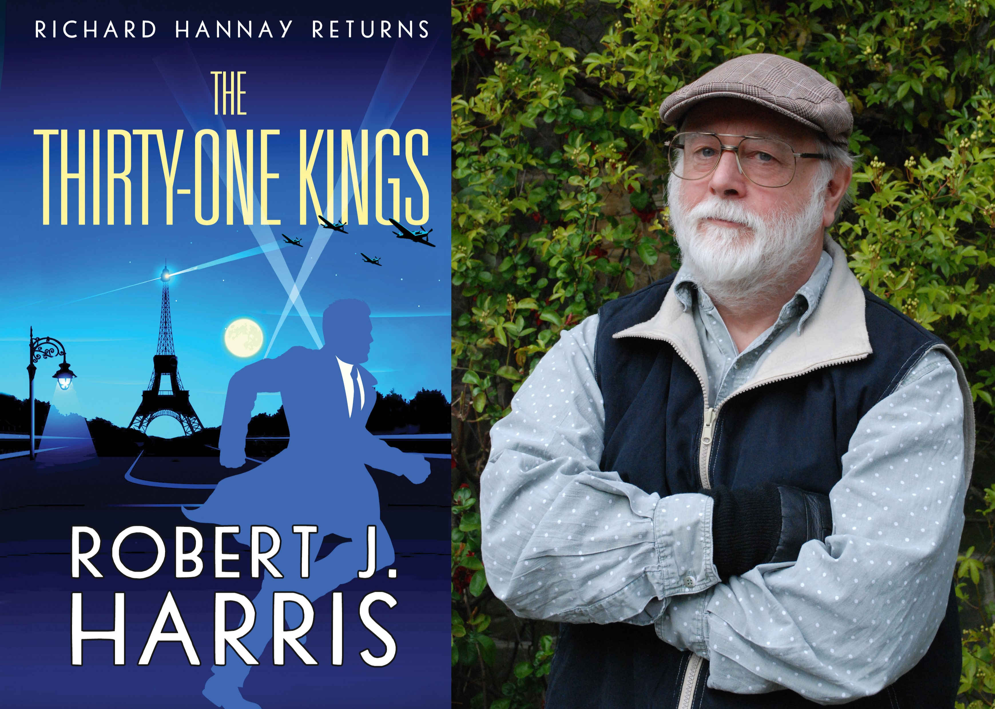 Image of Robert J. Harris with a new Richard Hannay Novel, The Thirty-One Kings