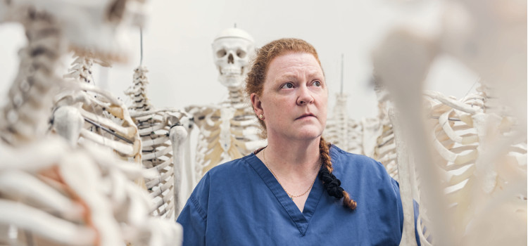 Image of Professor Sue Black with All That Remains: A Life in Death
